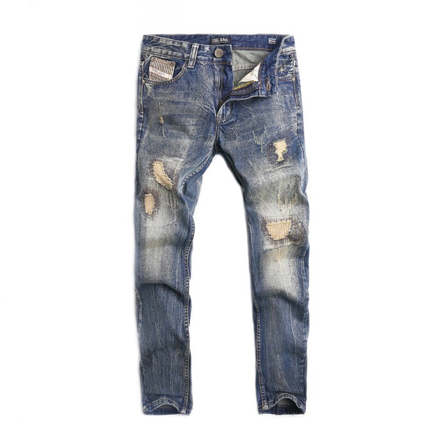 Casual Denim Ripped Jeans - TrendSettingFashions