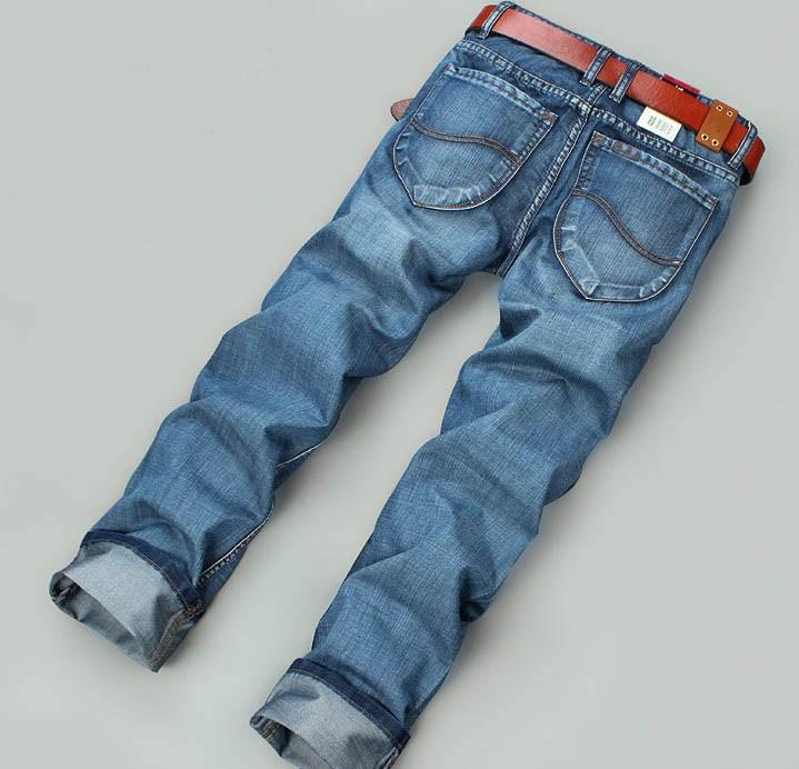 Men's Nostalgic Blue Jeans - TrendSettingFashions
