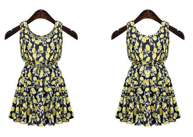 Women's Vintage Floral Dress - TrendSettingFashions
