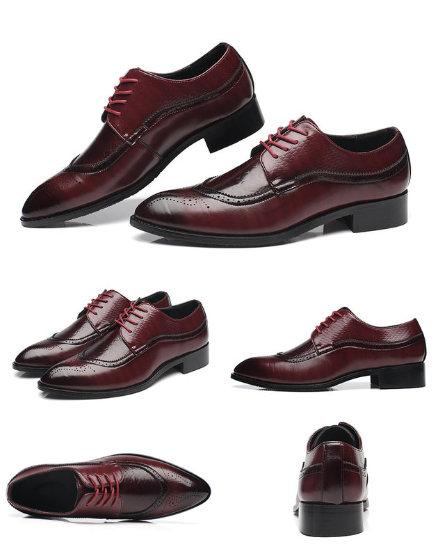 Men's Vintage Crocodile Style Shoes - TrendSettingFashions