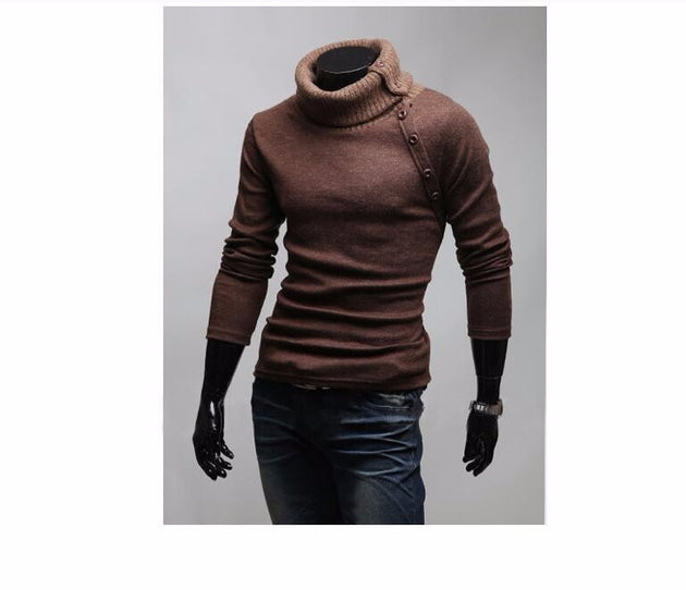 Men's High Collar Sweater - TrendSettingFashions