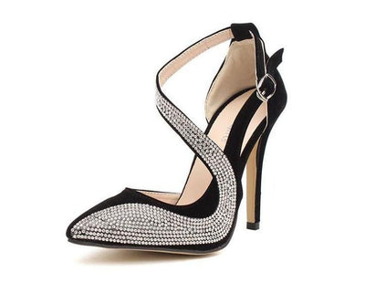 Women's Rhinestone Design High Heels - TrendSettingFashions