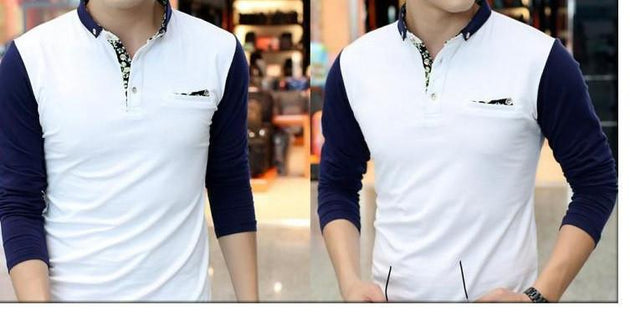 Men's Button Down Collar Polo - TrendSettingFashions