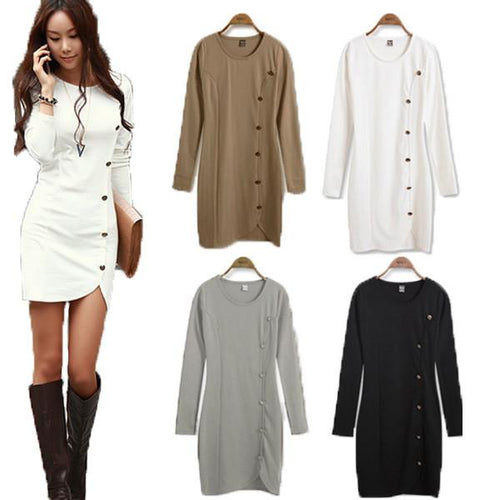 Women's Long Sleeve Fashion Mini Dress - TrendSettingFashions