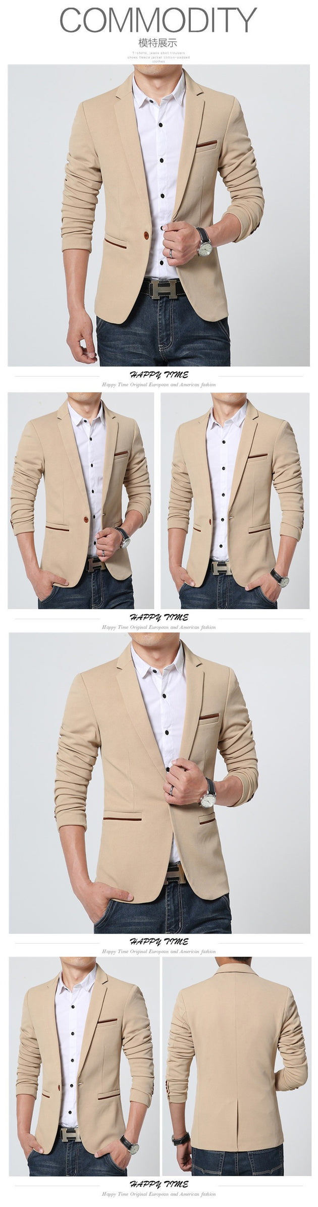 Men's Casual Blazer Up To 5XL - TrendSettingFashions