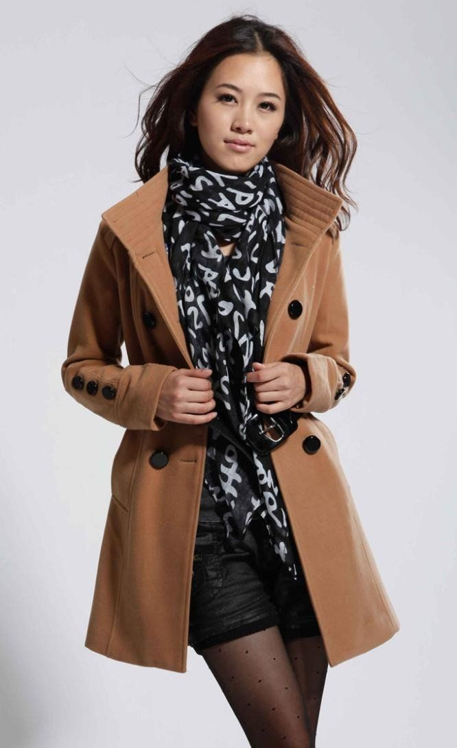 Classy Double Breasted Peacoat - TrendSettingFashions   - 3