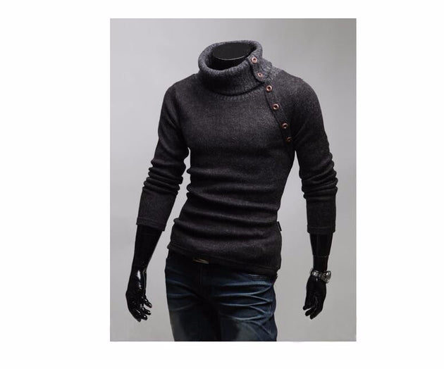 Men's High Collar Sweater