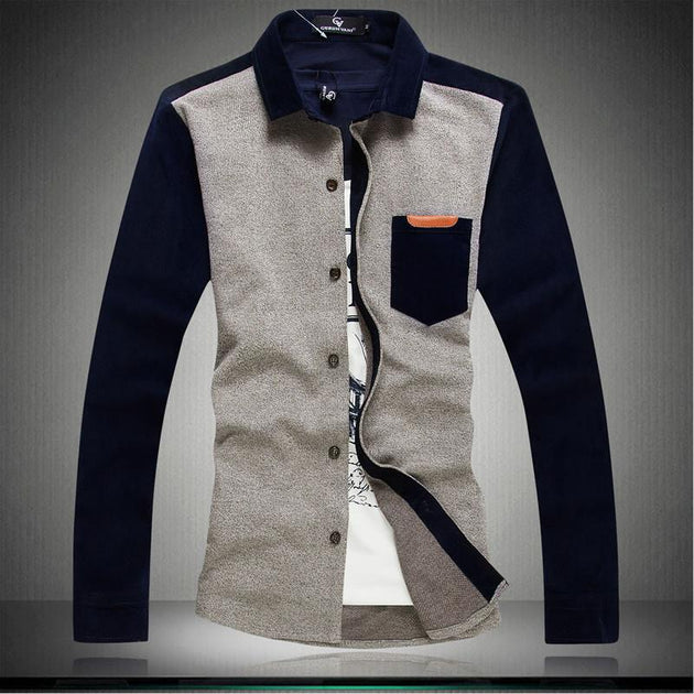 Men's High Collar Button Up Sweater - TrendSettingFashions