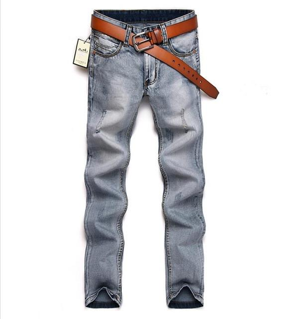 Men's Smoke Grey Fashion Jeans - TrendSettingFashions