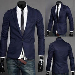 Men's Solid Color Suit Jacket - TrendSettingFashions   - 1