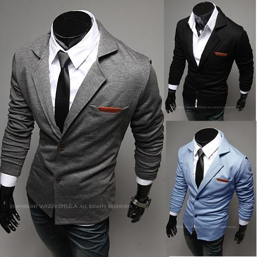 Men's Pocket Tone Suit Jacket - TrendSettingFashions   - 3