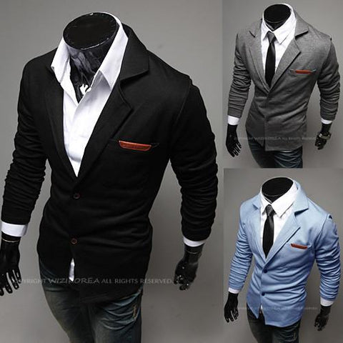 Men's Pocket Tone Suit Jacket