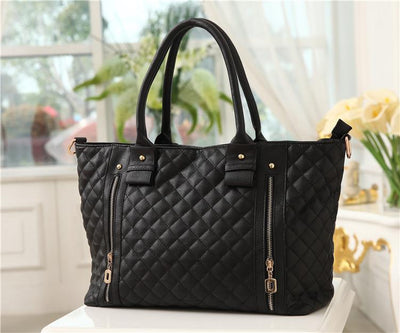 Women's Europe Fashion Style Checkerboard Handbag - TrendSettingFashions