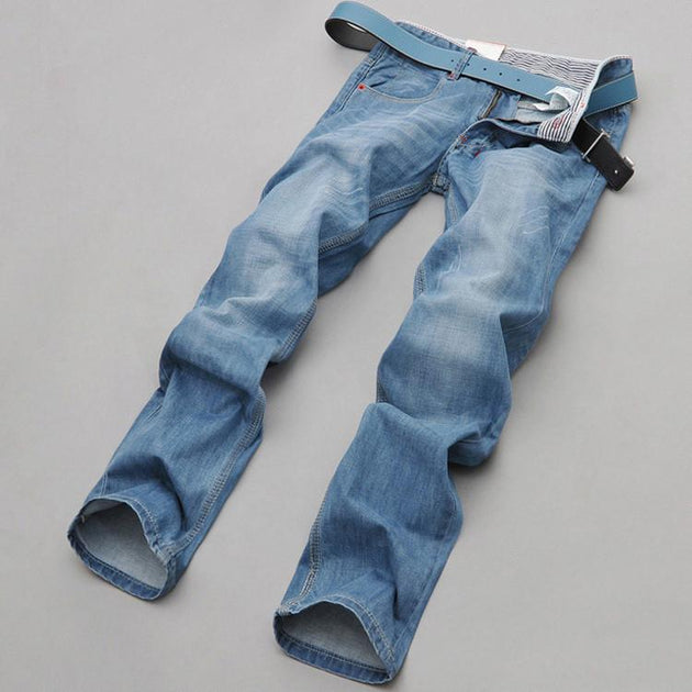 Men's Baby Blue Jeans - TrendSettingFashions
