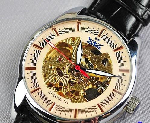 Men's Rose Gold Skeleton Watch - TrendSettingFashions