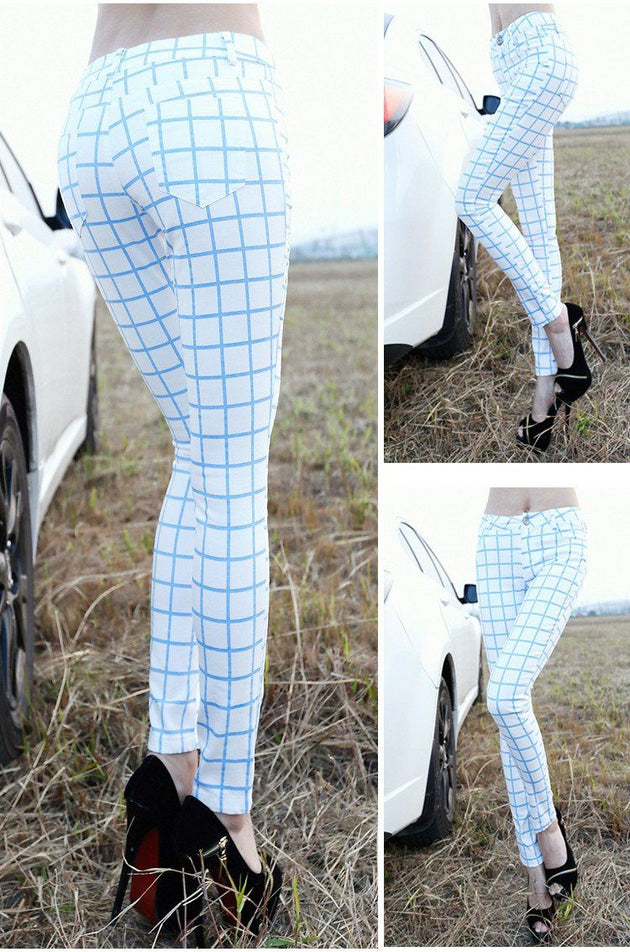 Women's Perfectly Plaid Jeggings - TrendSettingFashions