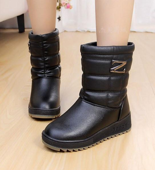 Trendy Waterproof Snow Boots - TrendSettingFashions   - 1