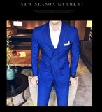 Men's Double Breasted 3 Piece Suit In 3 Colors Up To Size 3XL - TrendSettingFashions