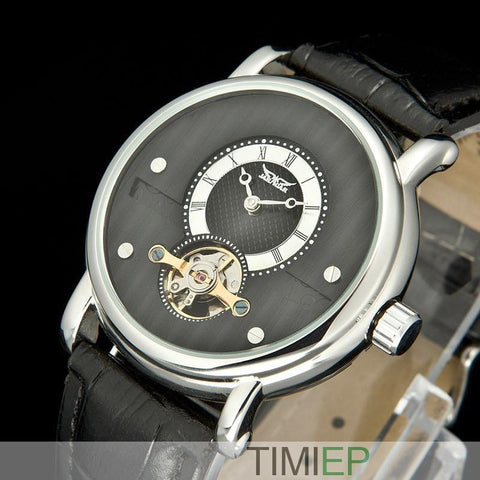 Men's Trendy Black Dial Watch