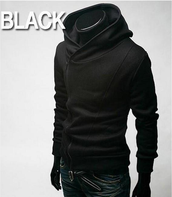 Men's High Collar Pull Over Hoodie - TrendSettingFashions   - 1