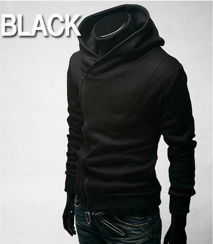 Men's High Collar Pull Over Hoodie
