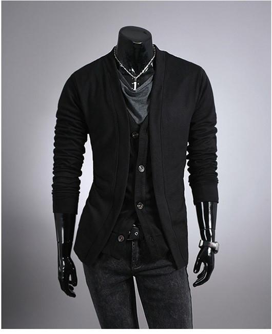 Men's Cardigan With Matching Vest - TrendSettingFashions