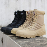 Men's Retro Combat Boots - TrendSettingFashions
