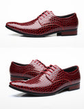Men's Leather Oxfords Business Flats Up To Size 12.5 - TrendSettingFashions
