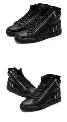 Men Casual Flat High Top Sneakers - TrendSettingFashions   - 3