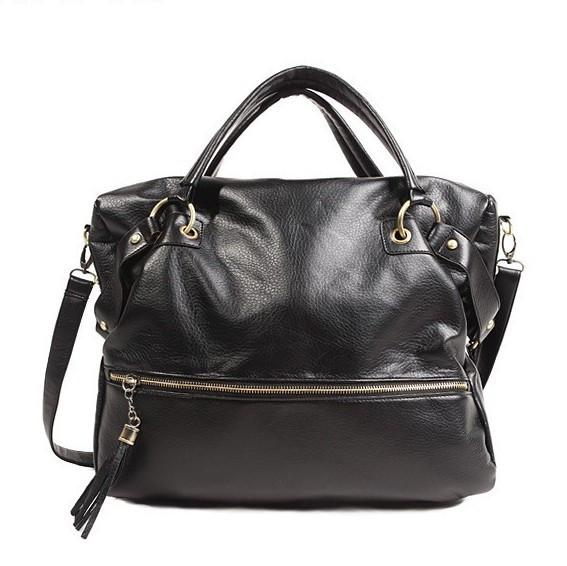 Women's Large Capacity Leather Handbag - TrendSettingFashions