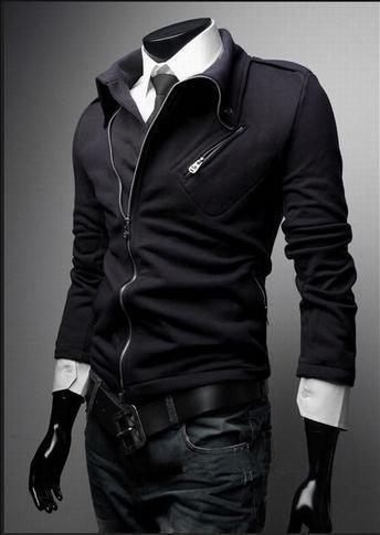 Men's Fashion Zip Up Jacket - TrendSettingFashions   - 2