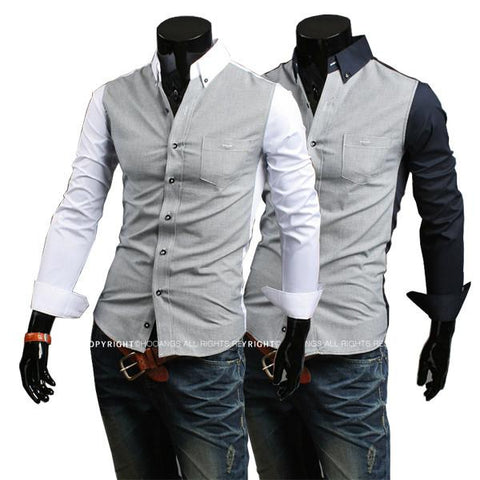 Men's 2 Color Fashion Dress Shirt