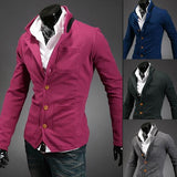 Men's Button Up High Collar Sweater - TrendSettingFashions