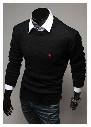 Men's Classic Round Collar Sweater - TrendSettingFashions   - 1