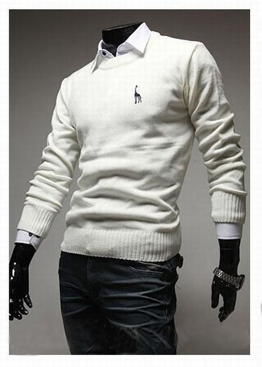 Men's Classic Round Collar Sweater - TrendSettingFashions   - 2