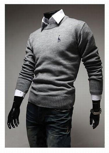 Men's Classic Round Collar Sweater - TrendSettingFashions   - 3