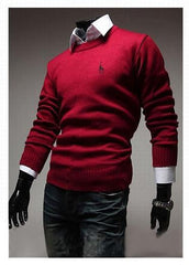 Men's Classic Round Collar Sweater - TrendSettingFashions   - 4