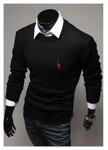Men's Classic Round Collar Sweater