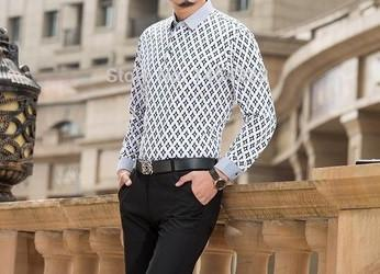 Men's Business Turn Down Collar - TrendSettingFashions