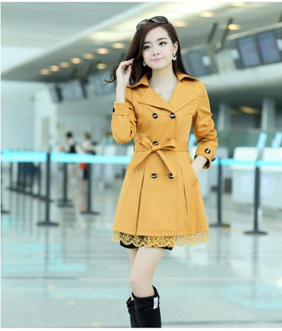 Women's Fashion Trench Style Coat With 5 Color Options