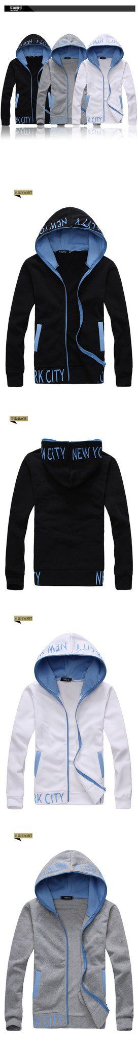 Men's Zip Up NYC Hoodie - TrendSettingFashions