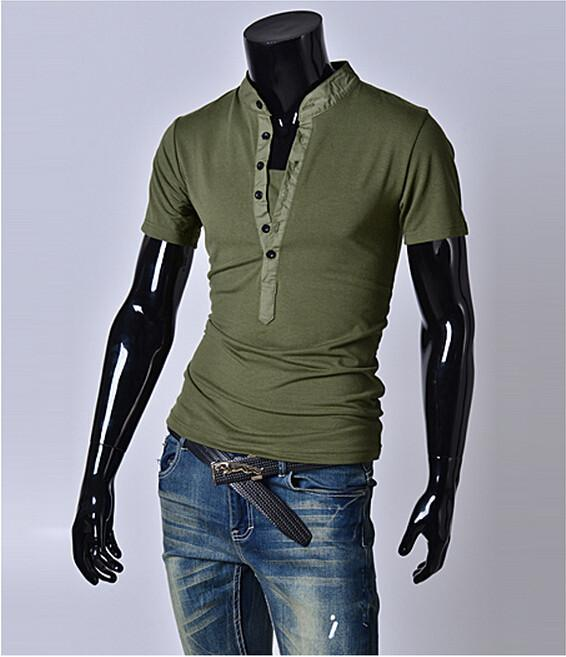 Fashion Half Button T-Shirt - TrendSettingFashions