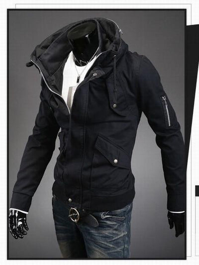 Men's Fashion Overcoat With Arm Zippers - TrendSettingFashions