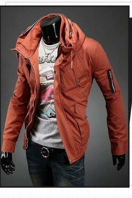 Men's Fashion Overcoat With Arm Zippers - TrendSettingFashions   - 3