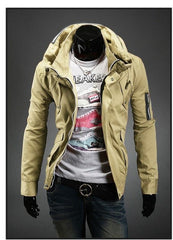 Men's Fashion Overcoat With Arm Zippers - TrendSettingFashions   - 2