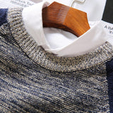 Men's Patchwork Knitted Puilover - TrendSettingFashions