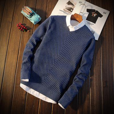 Men's Round Collar Thick Sweater - TrendSettingFashions