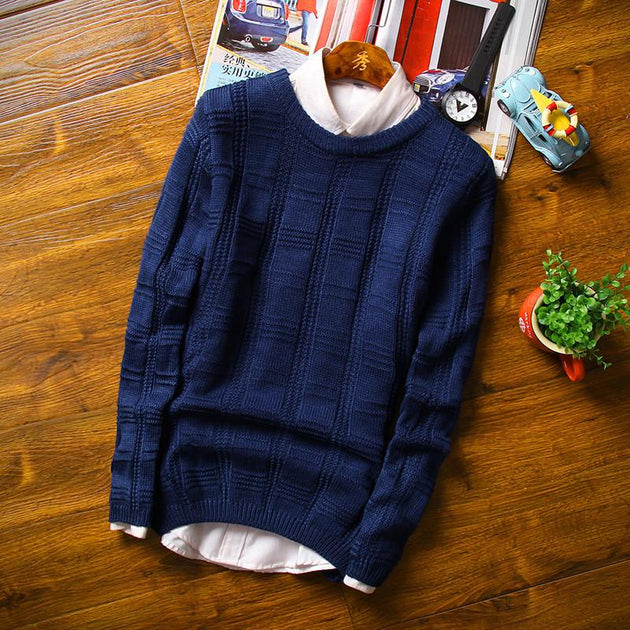 Men's Thick Cotton Sweater - TrendSettingFashions