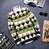 Men's Argyle Plaid Pullover - TrendSettingFashions