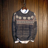 Men's Snowflake Knitted Pullover - TrendSettingFashions